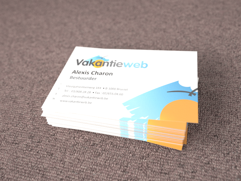 design businescard vakantieweb